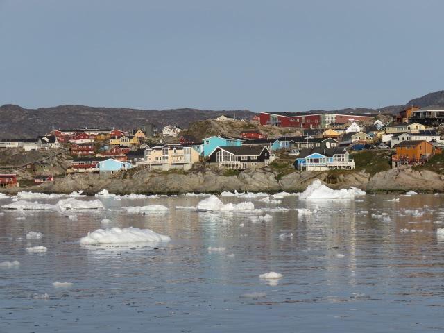 Iceberg ilulissat town